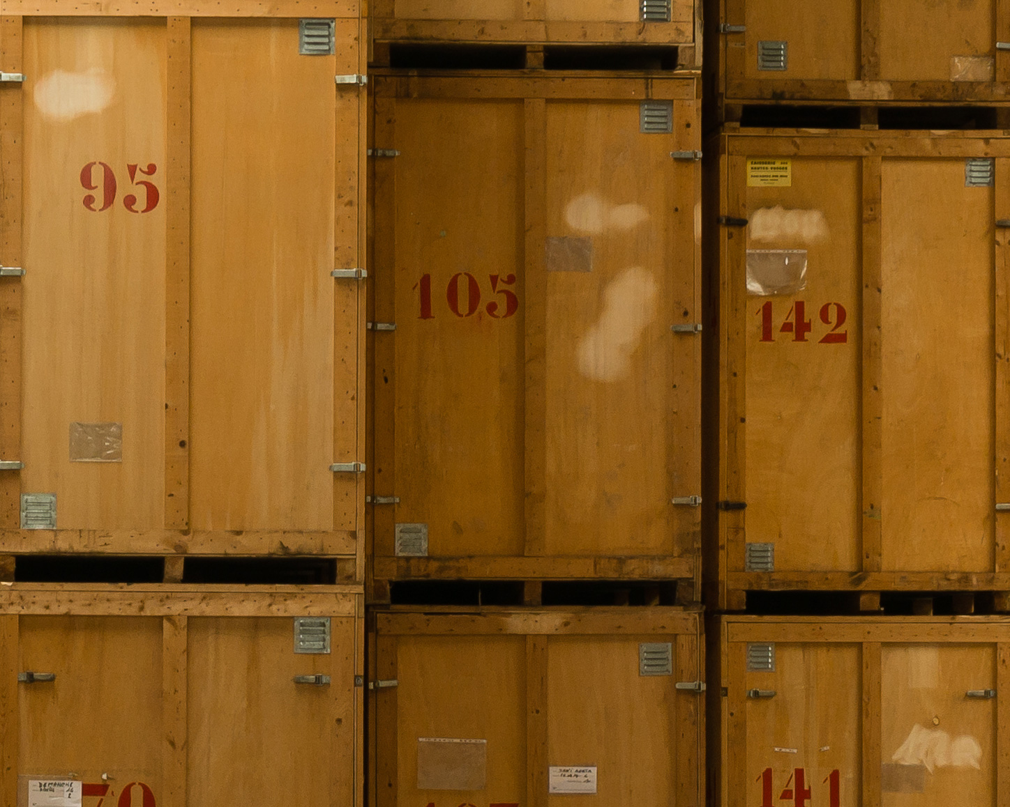 Stockage en containers